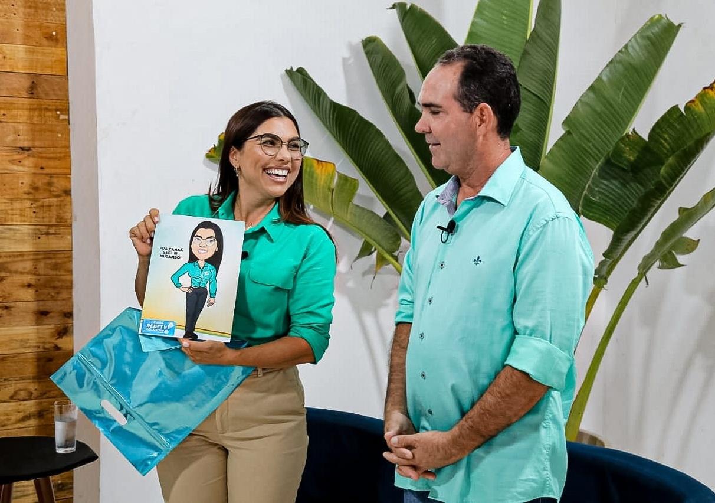 Josemira e Zito durante a entrevista na Rede TV