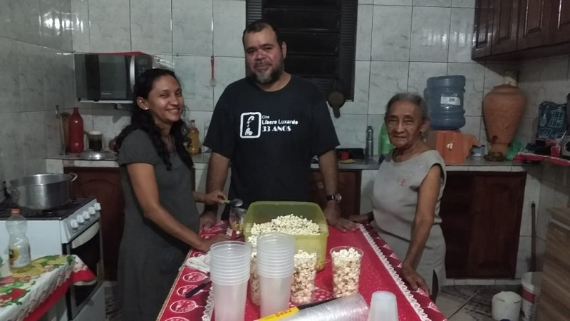 João Cirilo, Dora e dona Maria Silveira, todos envolvidos no projeto
