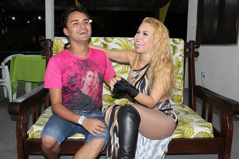 Matheus Freire e sua musa Joelma