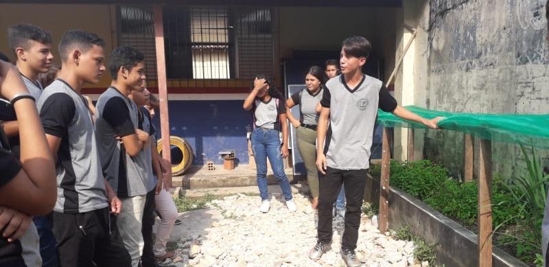 Alunos de escola municipal cultivam horta - Portal Belém