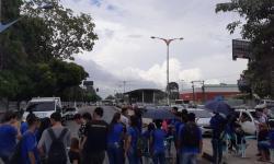 Protesto de estudantes na Av. Almirante Barroso