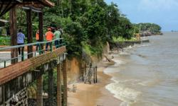 Praias de Mosqueiro têm risco de deslizamento