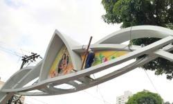 Arcos de Nazaré passam por manutenção para o Círio 2021