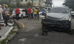 Acidente no bairro da Batista Campos