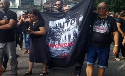 Servidores da Santa Casa protestam contra privatização