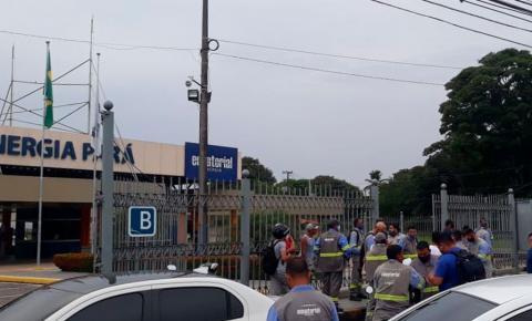 Trabalhadores da Equatorial protestam em frente à empresa nesta quarta (9)