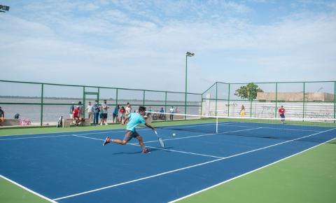 Portal da Amazônia inaugura quadras de tênis públicas