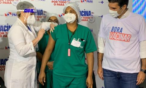 Pará já tem os primeiros profissionais da saúde vacinados contra a covid-19