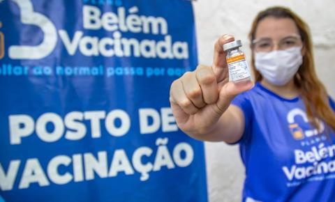 Idosos de 83 anos podem se vacinar contra covid-19 a partir desta terça (23), em Belém