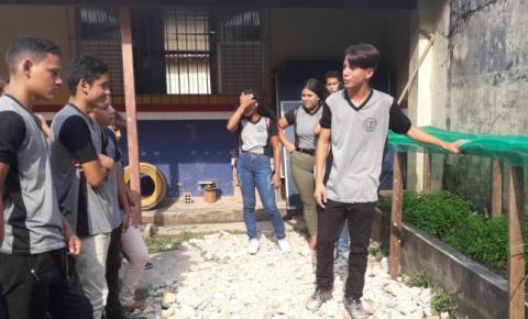 Alunos de escola municipal cultivam horta
